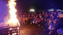 Sinte Merte bij Scouting St. Maarten